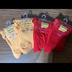 Brand new girls socks for 1 1/2 - 4 yrs